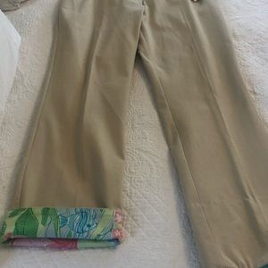 NWT Lilly Pultizer khaki pants